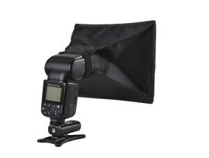 Universal Flash Lamp Soft Box Mini Diffuser for Canon Nikon Sony 15*17cm UK
