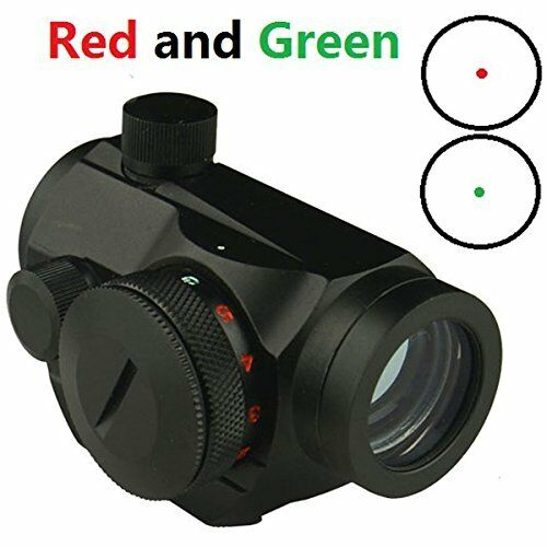 w// 5 Brightness Settings Red and Green Micro Dot Sight for Hunting /& Sports