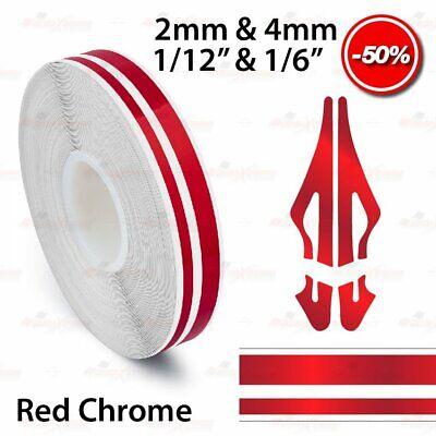 "ORANGE CHROME 12mm 1//2/"" Roll PinStripe Striping Dual Line Tape Vinyl Car STICKER"