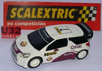 Scalextric Citroen Ds3 Wrc #7 Adac Qatar Only In Sets.mint Dr.