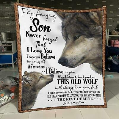 Wolf To My Son Never Feel That You Alone I Am Here Love Mom Canvas .75 in