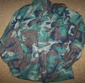 f2aecd2400bd3 USGI M-65 Field Jacket Medium Short Woodland Camo BDU Cold Weather ...