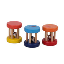 Random 1pc Baby Kids Wooden Cage Rattle Bell Classic Musical Gift Toys