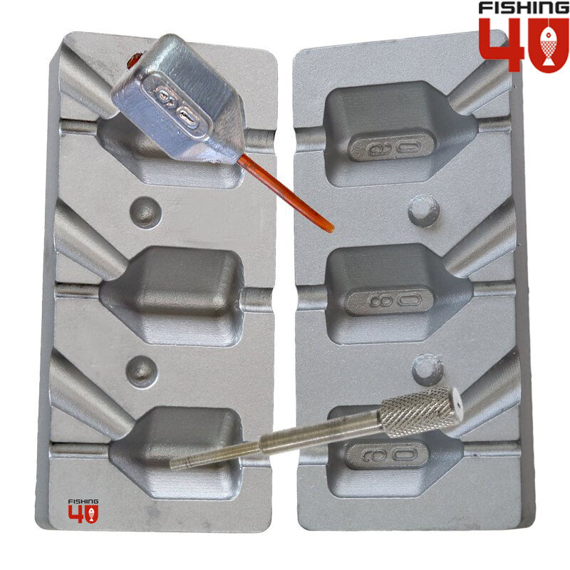 Dice In-Line Fishing Lead Mould 60-80-90g fishing mould