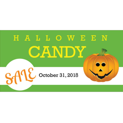Outdoor Shop Decor Advertising Vinyl Sign Details about  /HALLOWEEN CANDY SALE Banner 3/' X 2/'