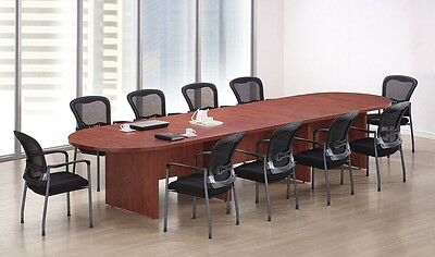 New Amber 12' Racetrack Conference/Boardroom/Meeting Room Office Table