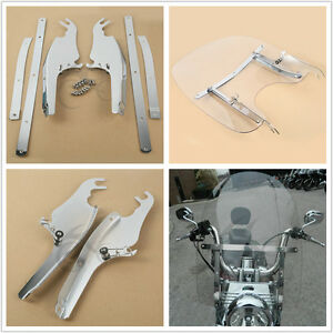 Windscreen-Windshield-Mounting-Bracket-Kit-For-Harley-Davidson-FL-Softail-Models