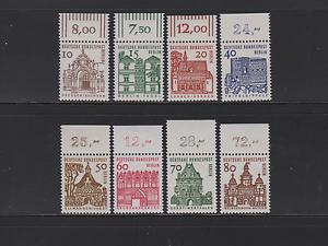 Berlin-242-249-034-Kleine-Bauten-1964-034-Oberrandsatz-postfrisch-einwandfrei