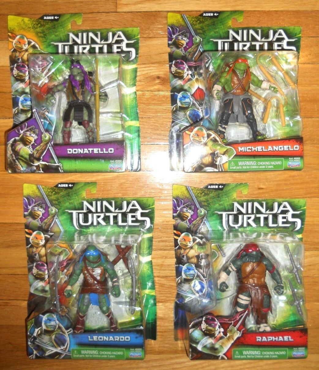 Tortugas Ninja Película Figuras Set 4 Lote Raphael Leo Miguel Ángel Don Teenage Mutant Ninja Turtles 2014