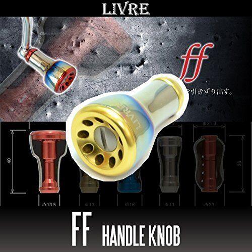 LIVRE ff (Fortissimo) Titanium Handle Knob 1 piece FIRE oro / oro FIRE 8984b3