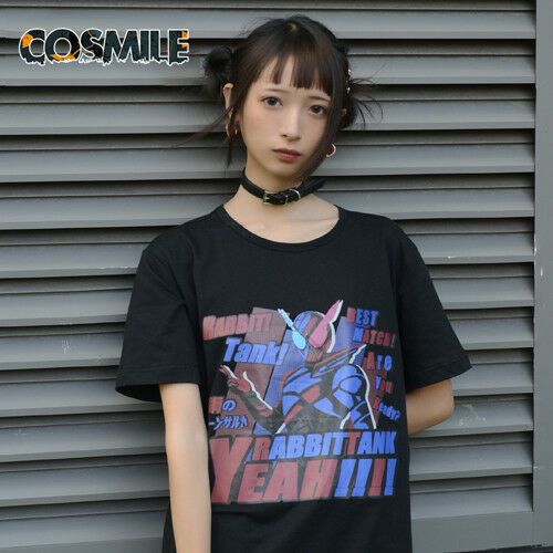 Kamen Rider Build Sento Kiryu Cosplay Causel Black T-shirt Top Tee