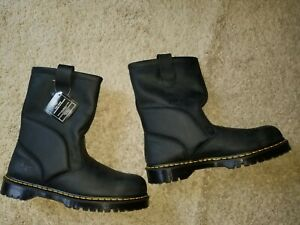 Dr Doc Martens Mens Pull On Steel Toe Boots Size 15 Uk 14