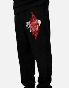 Nike-Men-039-s-Air-Jordan-JUMPMAN-WINGS-CLASSIC-Pants-Black-Red-BQ8470-010