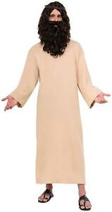 Biblical Robe Jesus Religious Beige Brown Fancy Dress Halloween Adult Costume