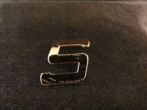 """24 carats plaqué or lettre /""""s/"""" styling autocollant voiture tuning emblème italique"""
