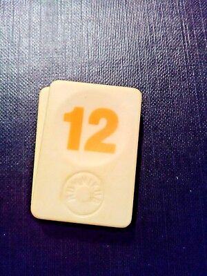 PION RUMMIKUB N° 7 JAUNE D/'ORIGINE 4cm X 3cm
