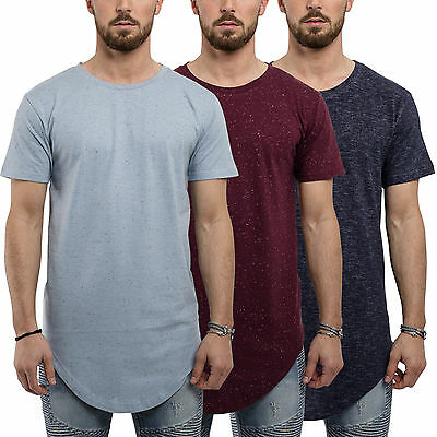 Phoenix Oversized Deep Curved T-Shirt Herren Top Longshirt Longline Long Tee Men