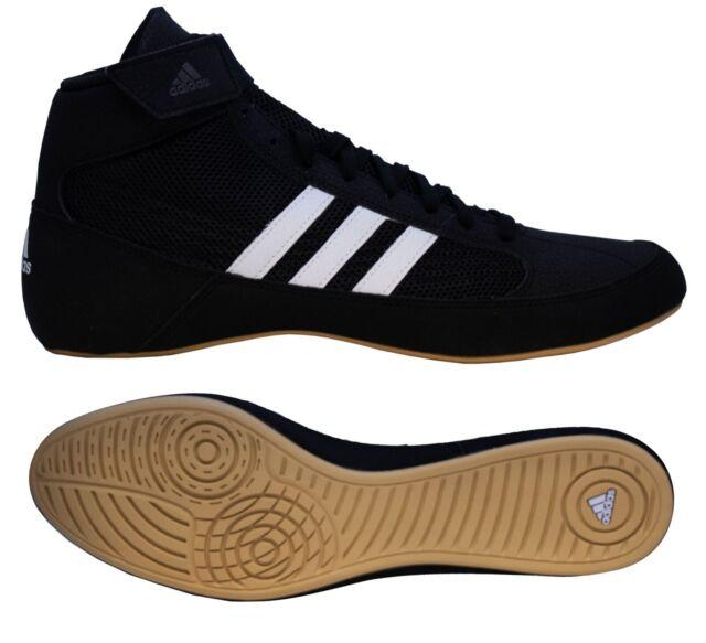Agencia de viajes Días laborables Aumentar  Adidas | AQ3325 | HVC 2 Adult | Black & White Wrestling Shoes | Brand New  for sale online