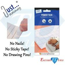 PRE CUT REUSABLE POWER TACK Adhesive Square Sticky Multi Purpose Poster Wall