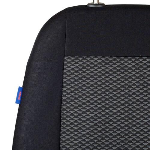 Negro-gris triángulos fundas para asientos para mazda 6 asiento del coche referencia completamente