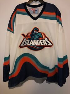 NHL-New-York-NY-Islanders-Fisherman-s-CCM-Jersey-Size-2XL-Vintage-90-039-s-Hockey