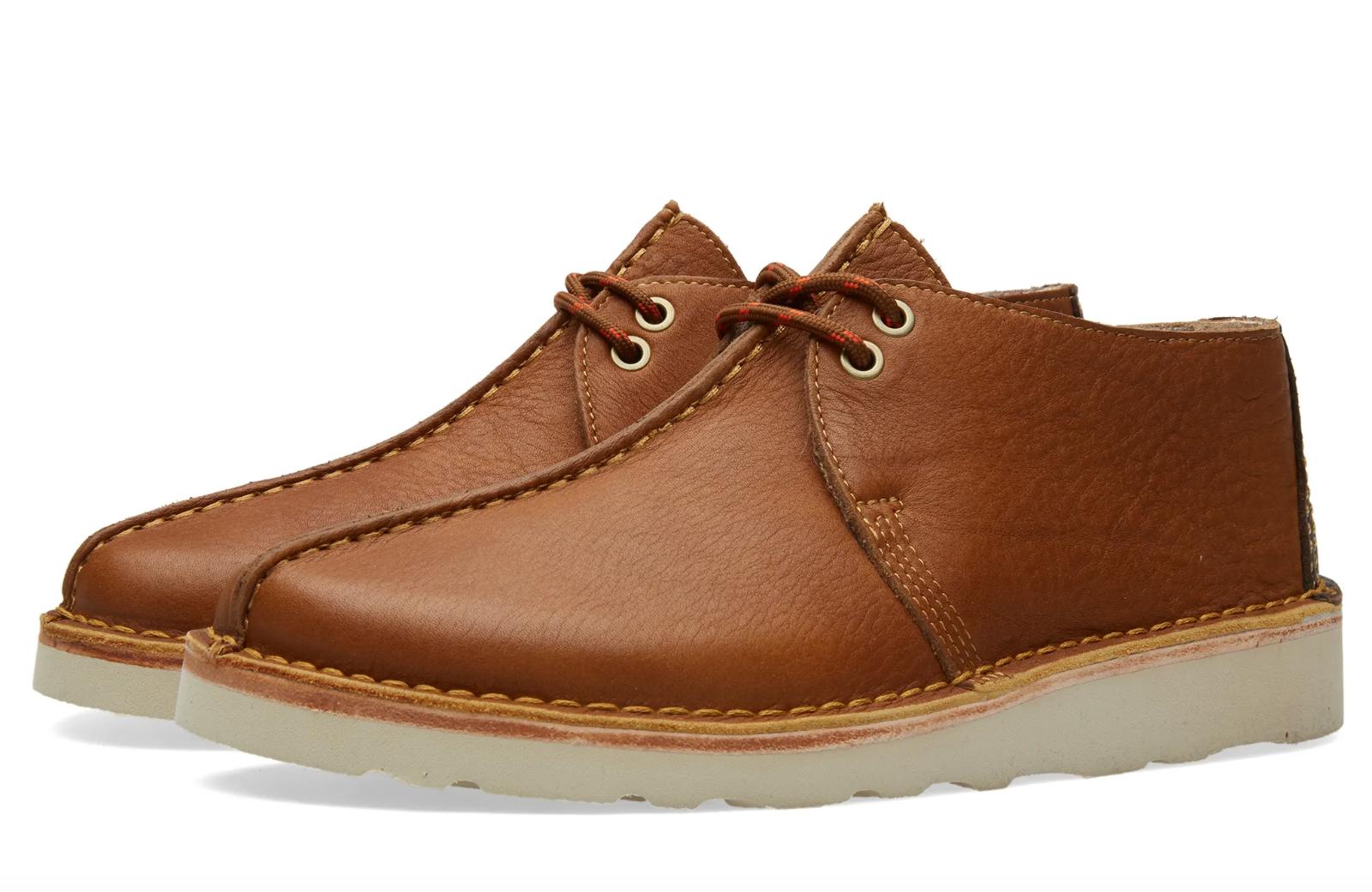 Clarks Originals Kilve Trek Mens UK 12 G Tan Leather Vibrim Desert Chukka Boots