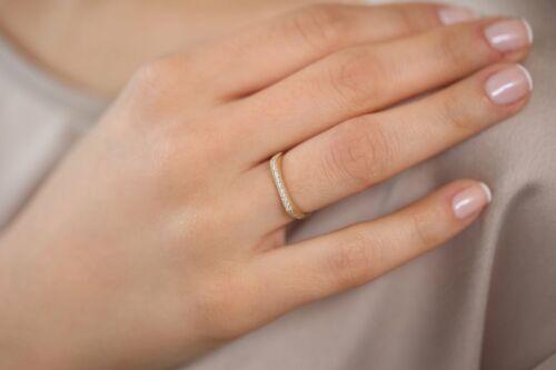 Diamante Memory anillo 20 brillante 0,10 Carat en 585er 14k Rose oro valor 800 €