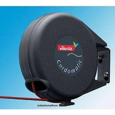 Vileda cordamatic 15m retractable washing clothes line for outdoor or indoor use
