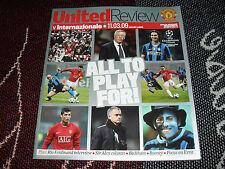 2009 programma Champions League-Manchester United V INTERNAZIONALE INTER MILAN