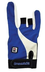 BRUNSWICK GRIP ALL GLOVE RIGHT HANDED BOWLING GLOVE BLUE//BLACK