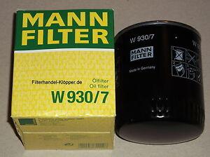 MANN Ölfilter W 930/7 für Case IH OE Nr. 3132023, 3132183R91, 3132023R91