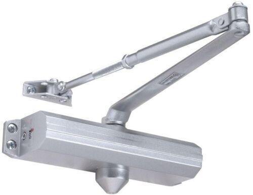 Door Closer Arm Heavy-Duty 4-Tension Adjustable Aluminum Commercial w// Hardware