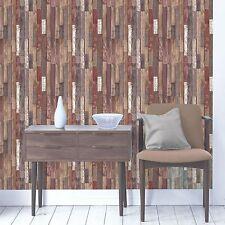 Tablones de madera Wallpaper-Natural-FD40887 Fine Decor De Madera Reciclado pared decoración