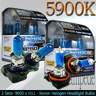 9005 /& H11 5900K 100W XENON HID HALOGEN HEADLIGHT BULBS