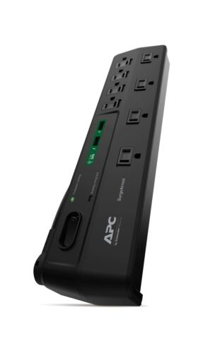 APC 8-Oultet Surge Protector Power Strip with USB Charging Ports 2630 Joules...