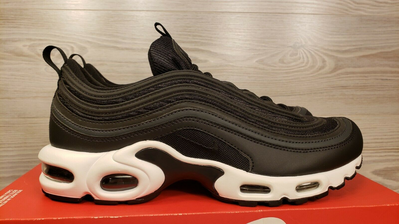 new products 83be0 1a479 NikeLab Air Max Plus 97 Am97 Anthracite Black White TN Air Ah8143 001 Size 9