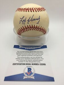 Luis Alcaraz Signed AUTOGRAPH OMLB Official NL Baseball BAS BECKETT C22691