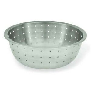 Winware by Winco Chinese Colander, 5MM Holes, Stainless Steel