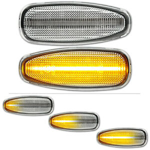 WEISSE dynamische LED Seitenblinker Kia Rio 3 4 Ceed cee'd Stonic Hyundai i30