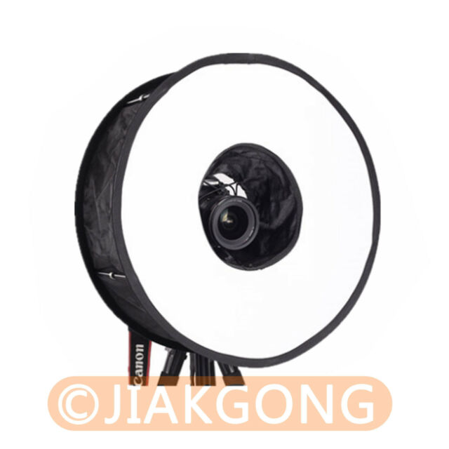 "Collapsibe 18""/46cm Macro Ring Circular Round Diffuser Softbox for Macro Shoot"