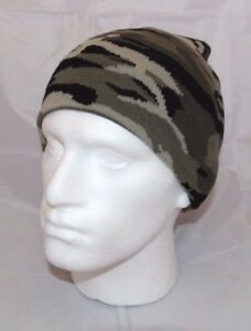 de60c7573a7 URBAN CAMO BEANIE SKI WINTER HAT NEW ARMY MILITARY CAMOUFLAGE WHITE ...