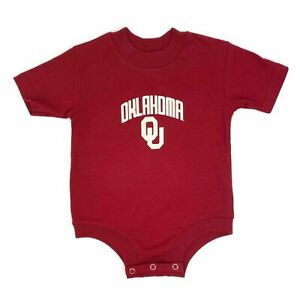 Oklahoma Sooners OU Infant Romper Body Suit Crimson Red One Piece Size 12 Months