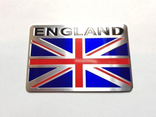 Motorcycle car truck metal badge GB flag