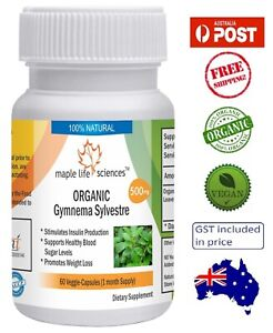 ORGANIC-Gymnema-Sylvestre-Leaves-Capsules-Controls-Blood-Sugar-AU-Stock