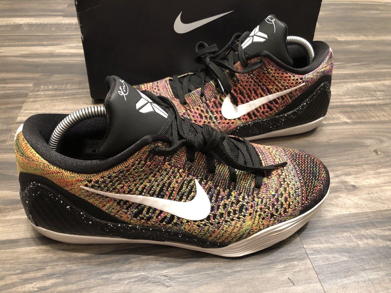 Nike kobe ix 9 elite id basso multicolore capolavoro mamba grinch flyknit pre -