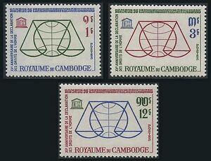 Cambodge N°141/143** Droits De L'homme 1963, Cambodia Human Rights Mnh BéNéFique à La Moelle Essentielle