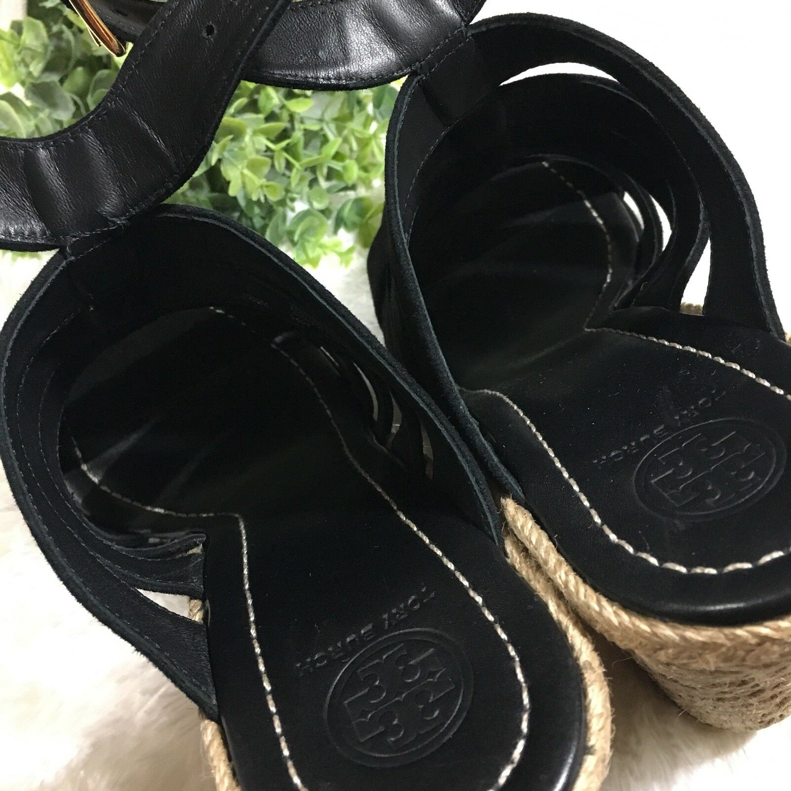 Tory Burch Bailey Multi Multi Multi Steal Wedge Espadrille Sandals Dimensione 10.5 Retail  358 5d9a53