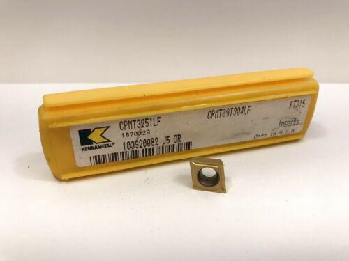 KENNAMETAL CPMT3251F CPMT09T304LF New Cermet Inserts Grade KT315 5pcs