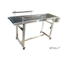 110v 59157 Pvc Belt Conveyor With Double Guardrail Adjustable Speed
