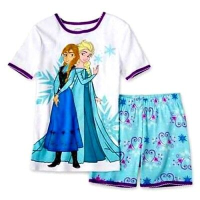 Official Licensed Girls Frozen Elsa and Anna 2 Pcs Short and Top Set